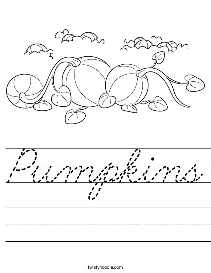 Pumpkins Worksheet