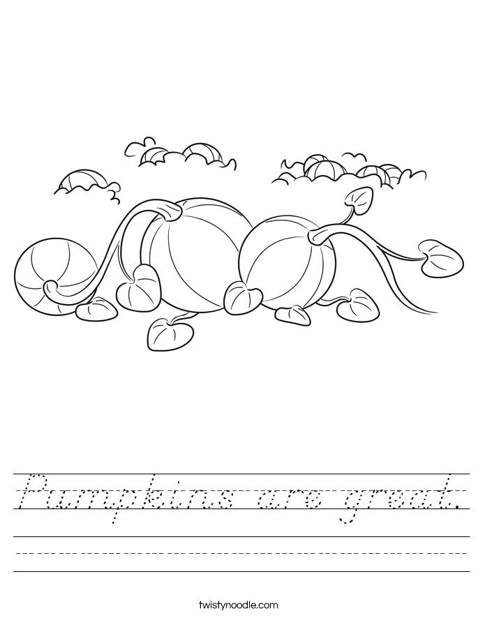 Pumpkins are great. Worksheet