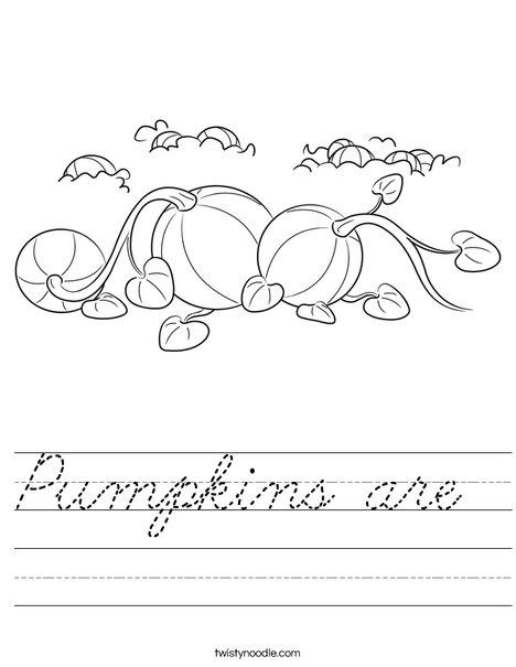 3 Pumpkins Worksheet