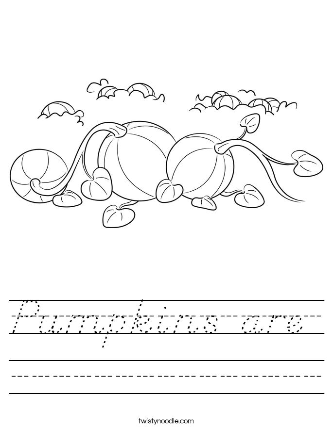 Pumpkins are  Worksheet