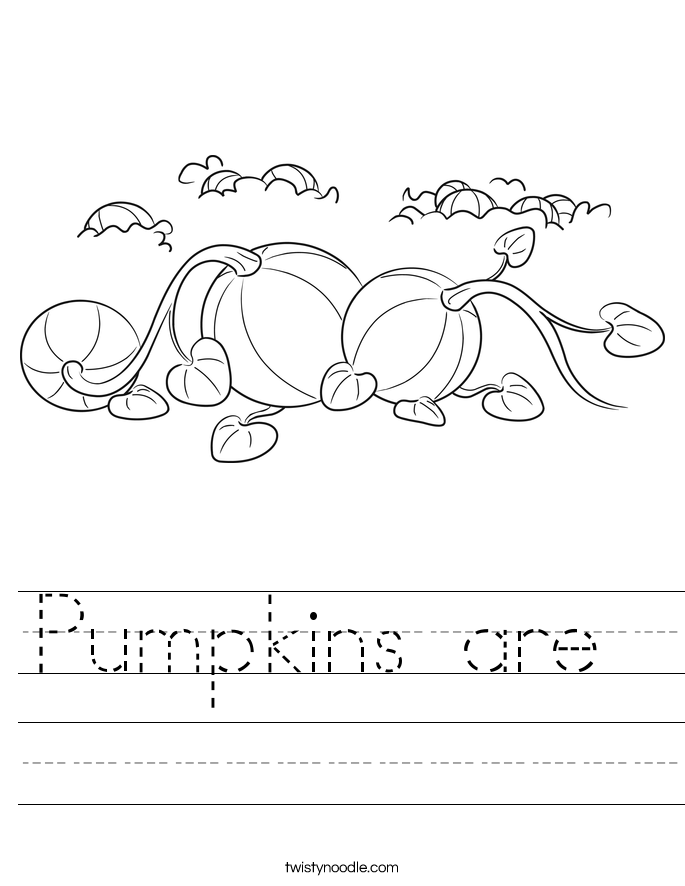Pumpkins are  Worksheet