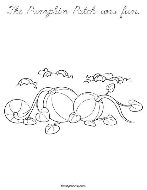 3 Pumpkins Coloring Page