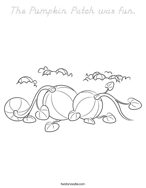 3 Pumpkins Coloring Page