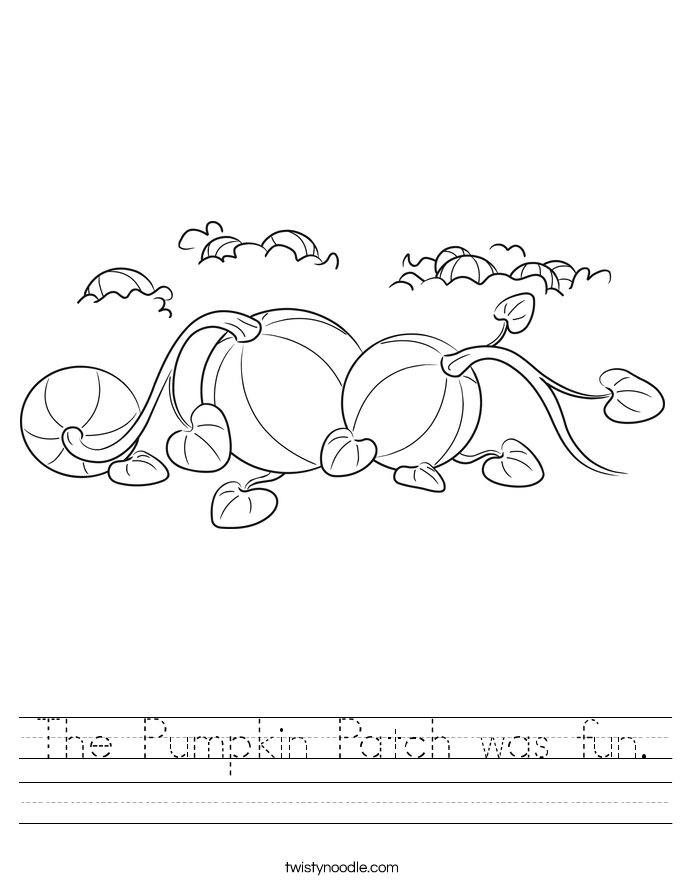 The Pumpkin Patch was fun. Worksheet