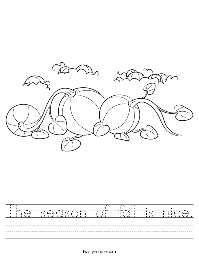 The season of fall is nice. Worksheet
