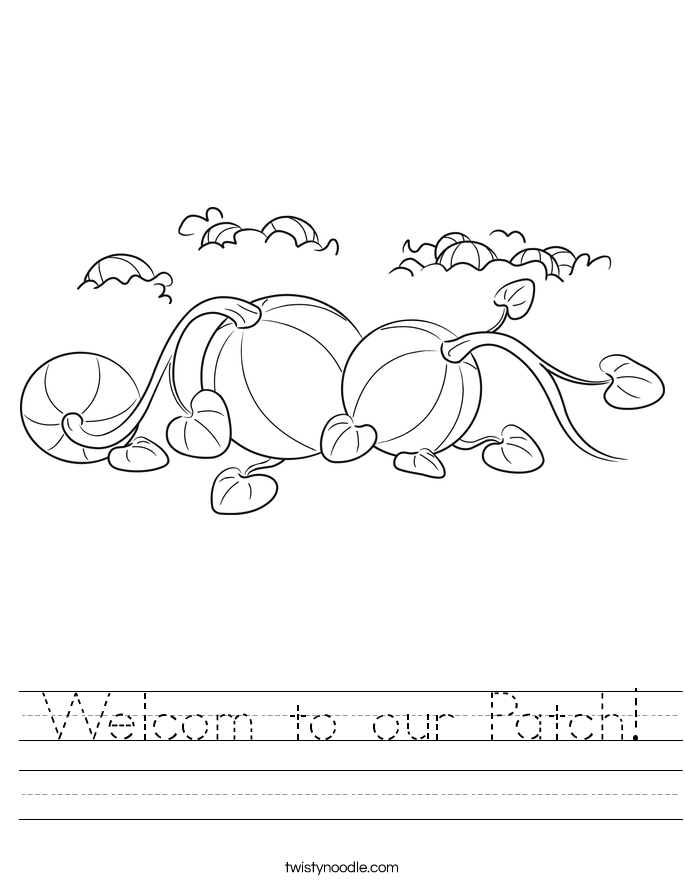 Welcom to our Patch! Worksheet