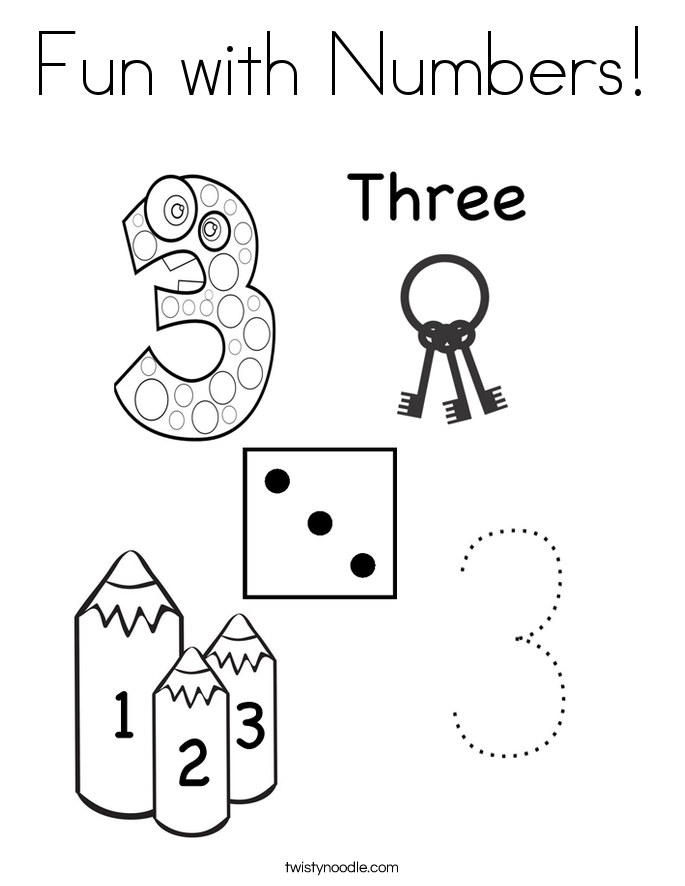 Fun with Numbers! Coloring Page