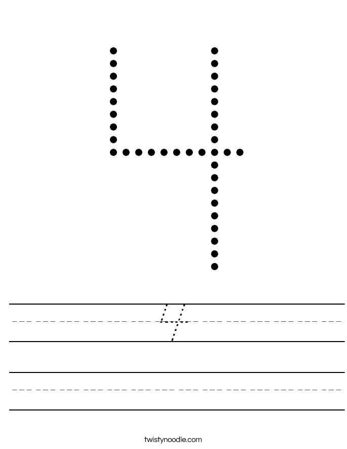 4 Worksheet