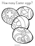 How many Easter eggs? Coloring Page