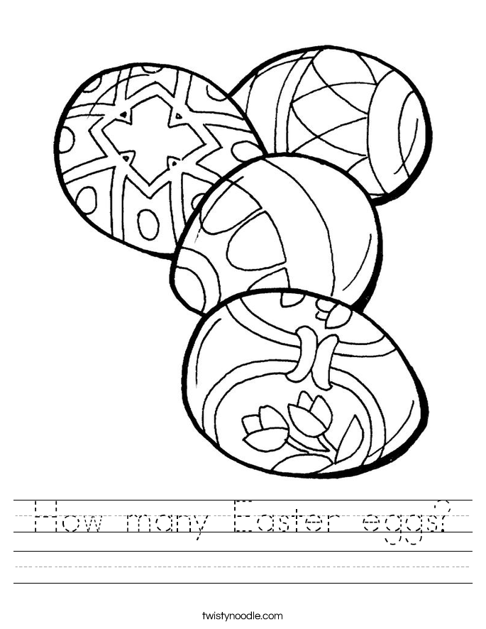 How many Easter eggs? Worksheet