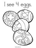 I see 4 eggs. Coloring Page