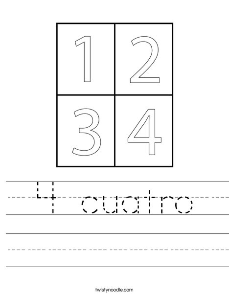 4 Squares Worksheet