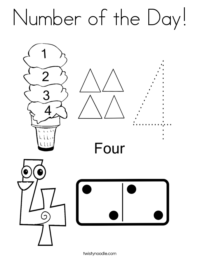 Number of the Day! Coloring Page