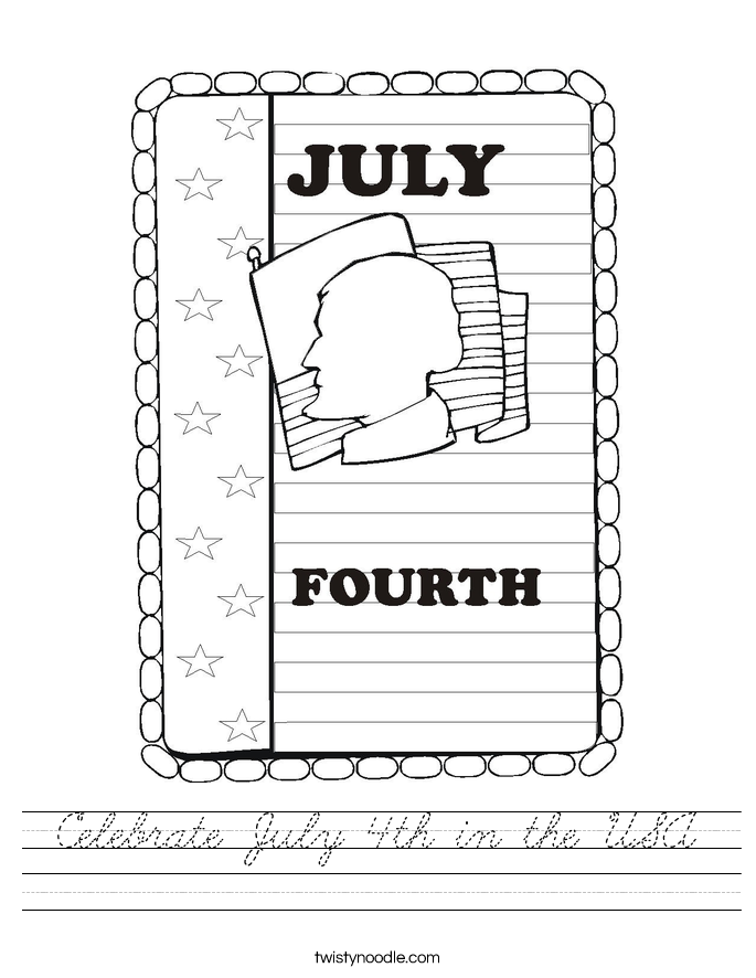 Celebrate July 4th in the USA Worksheet