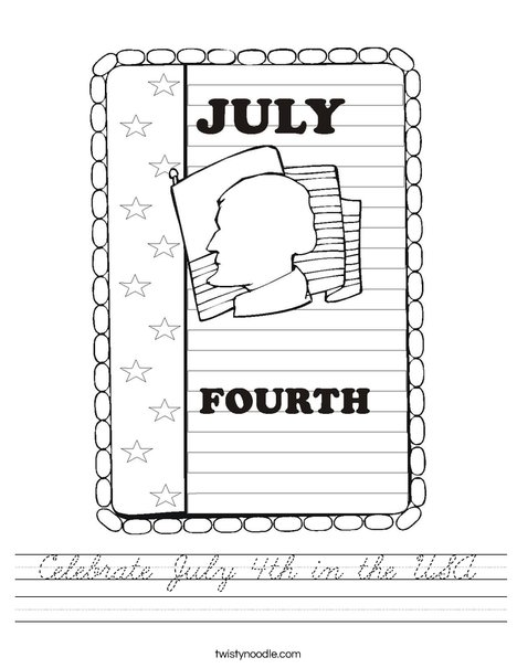 4th of July Worksheet
