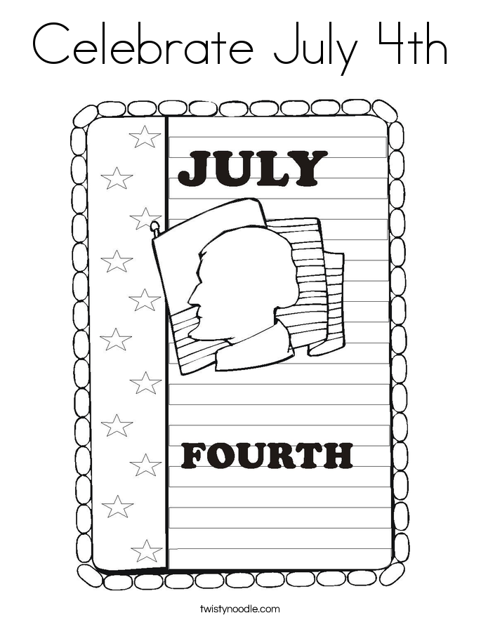 Celebrate July 4th Coloring Page