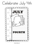 Celebrate July 4thColoring Page