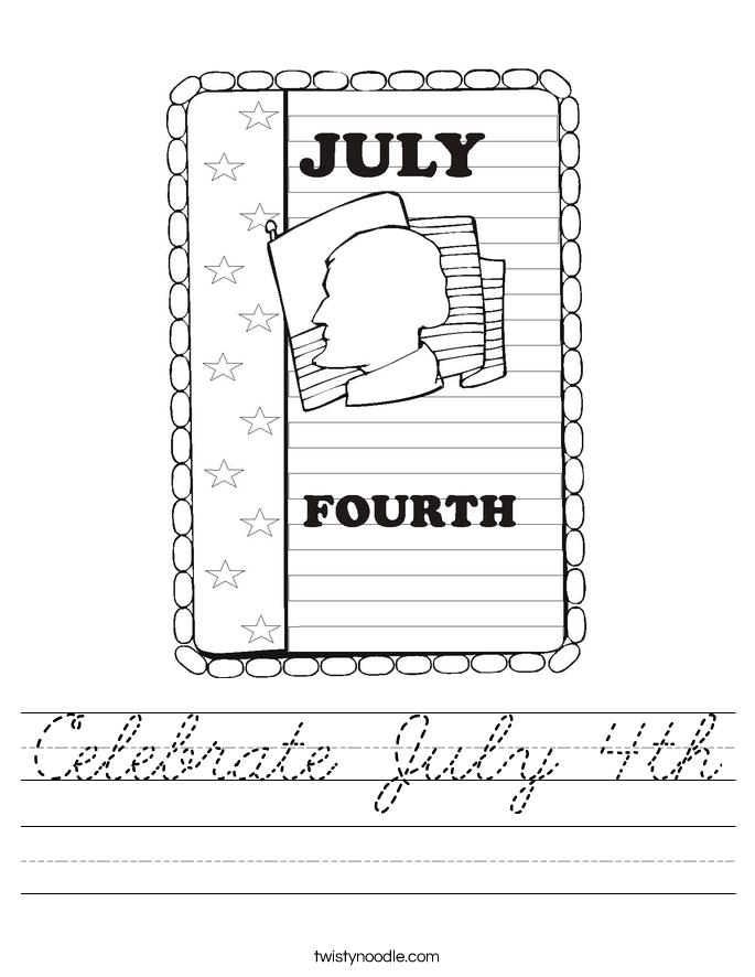 Celebrate July 4th Worksheet