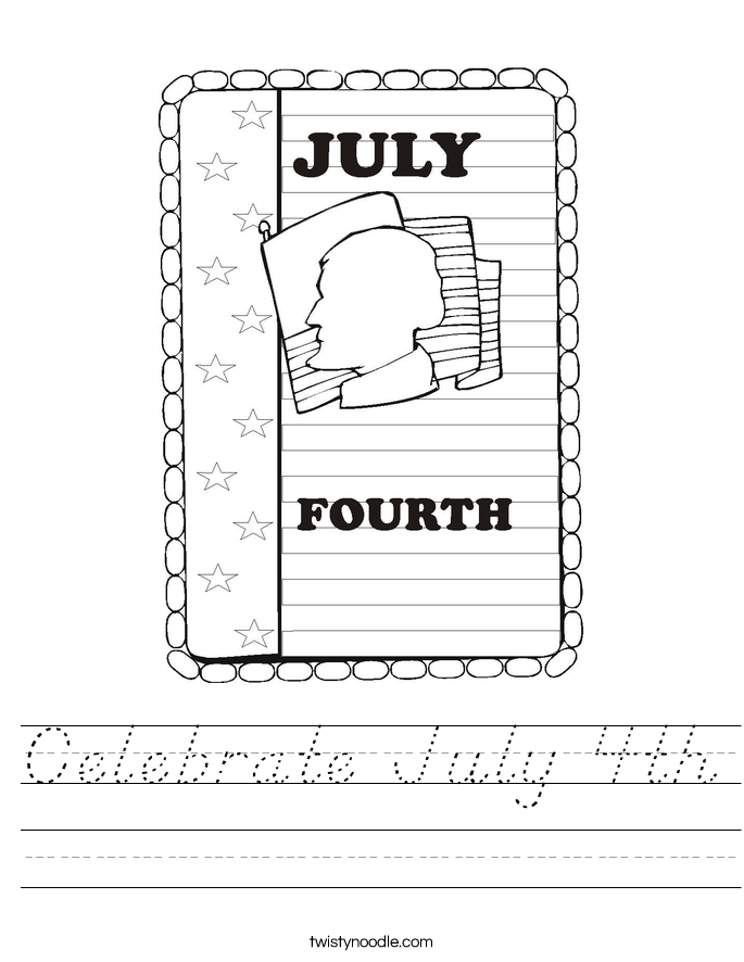 Celebrate July 4th Worksheet