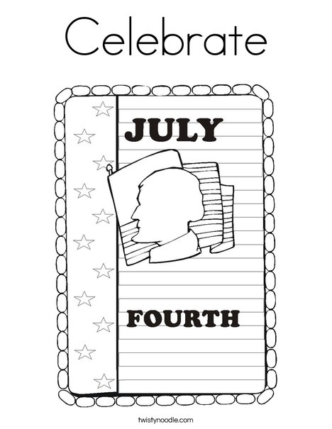 4th of July Coloring Page