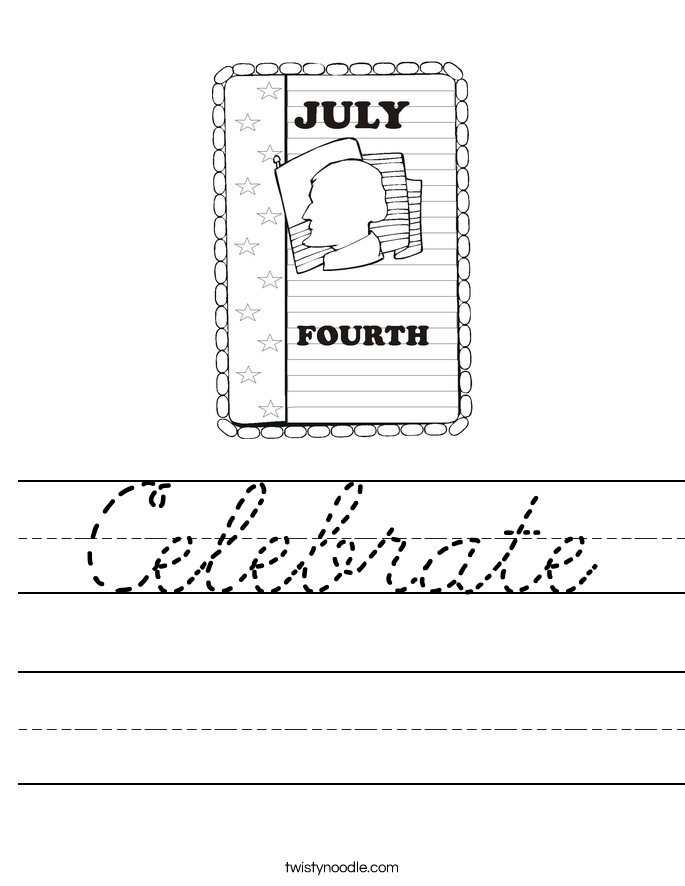 Celebrate Worksheet