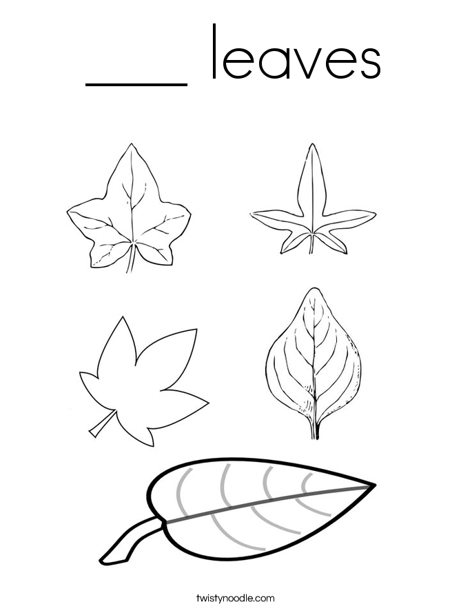 ___ leaves Coloring Page