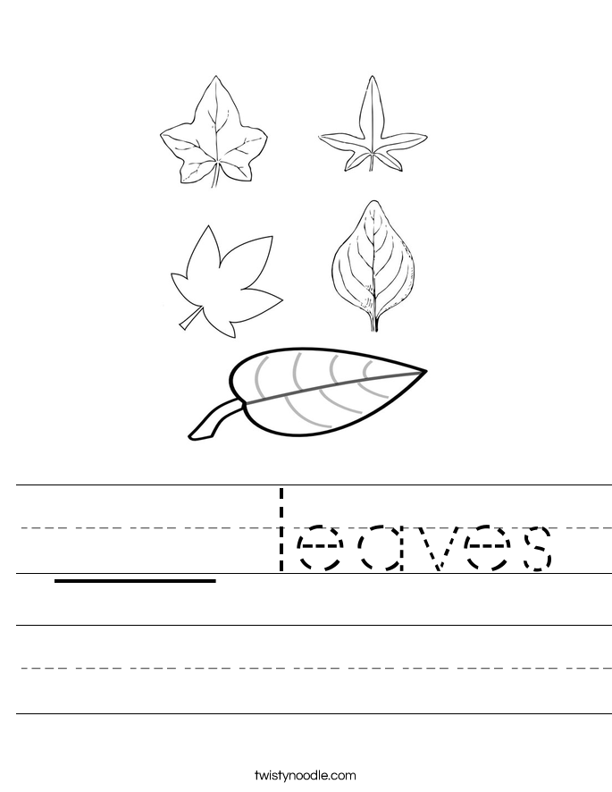 ___ leaves Worksheet