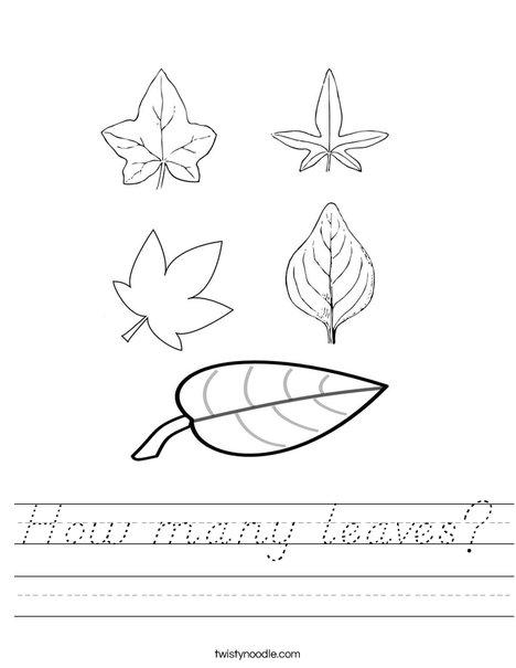 how many leaves worksheet d 39 nealian twisty noodle. Black Bedroom Furniture Sets. Home Design Ideas