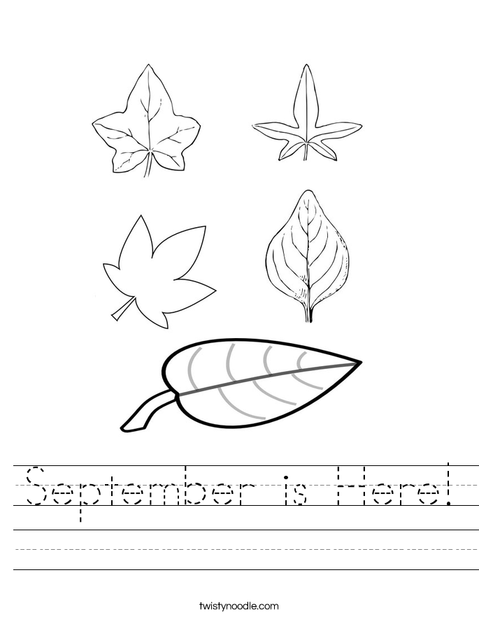 September is Here! Worksheet
