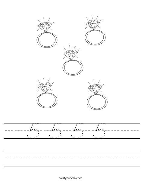 5 Rings Worksheet