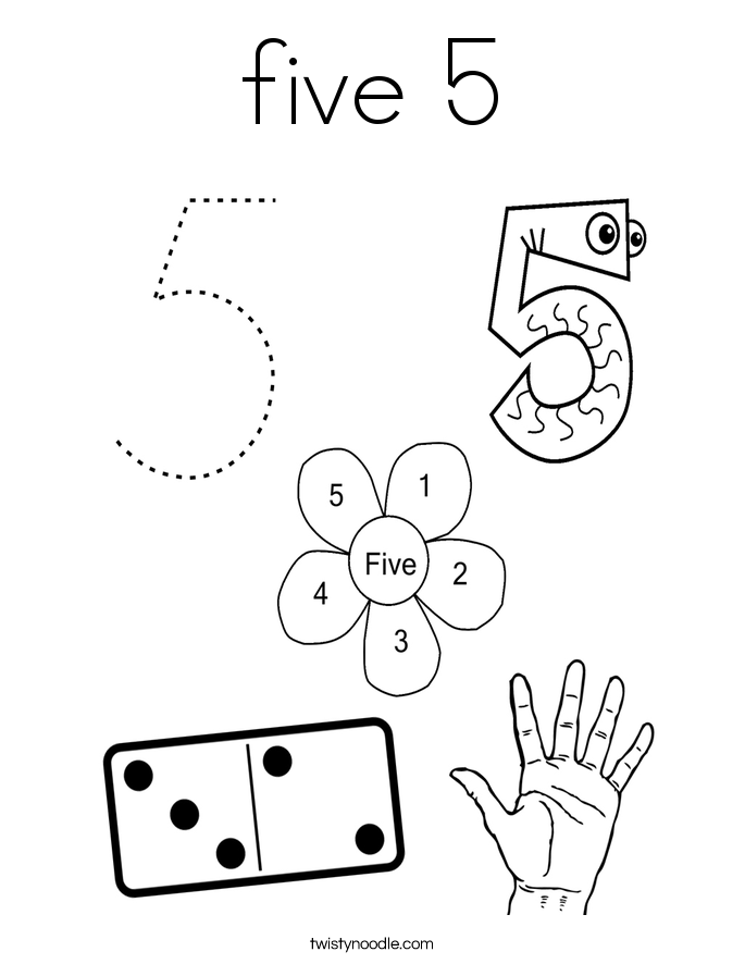 Worksheet Numbers 5 Coloring Page - Get Coloring Pages