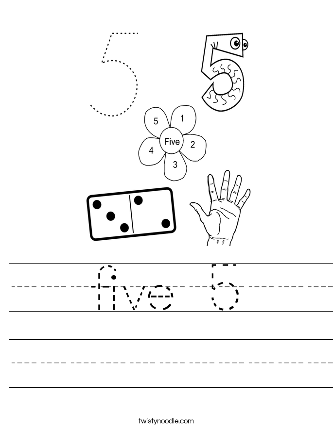 five 5 Worksheet