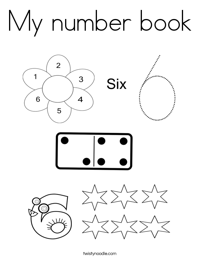 My number book Coloring Page