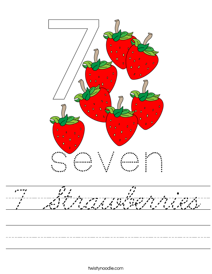 7 Strawberries Worksheet