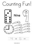 Counting Fun! Coloring Page