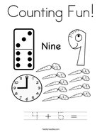 Counting Fun Coloring Page