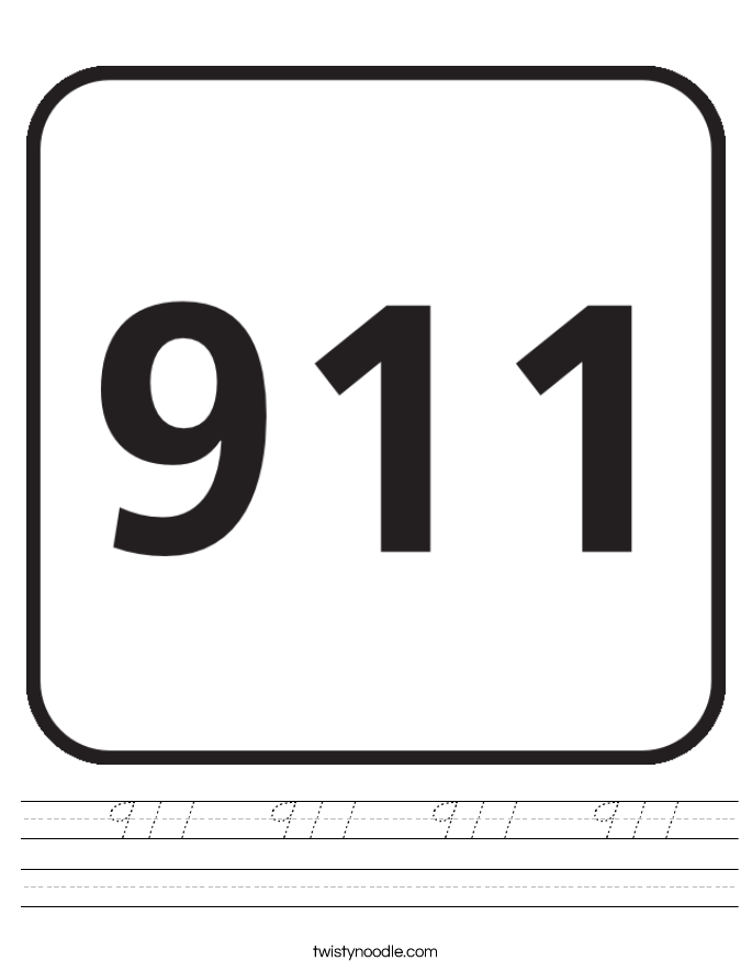 911   911   911   911  Worksheet