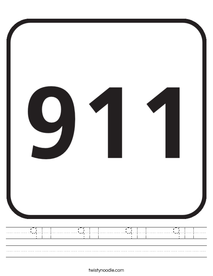 911   911   911   911  Worksheet