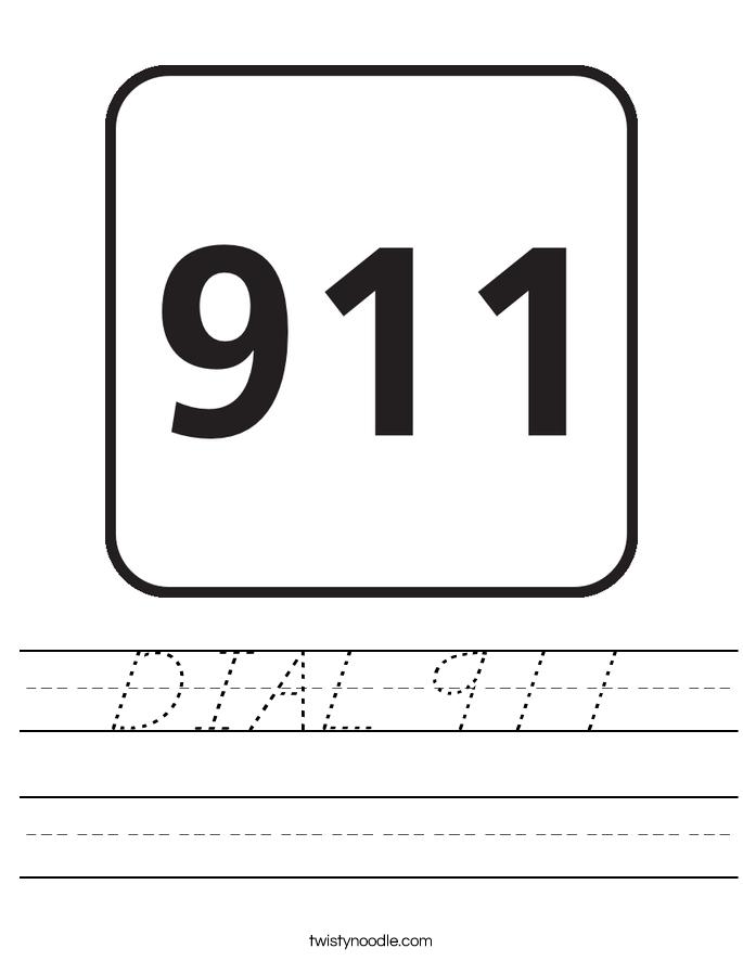 DIAL 911 Worksheet