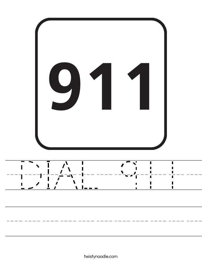 DIAL 911 Worksheet Twisty Noodle