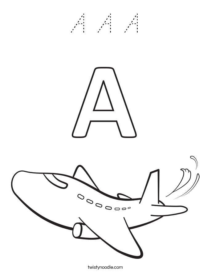 A A A Coloring Page