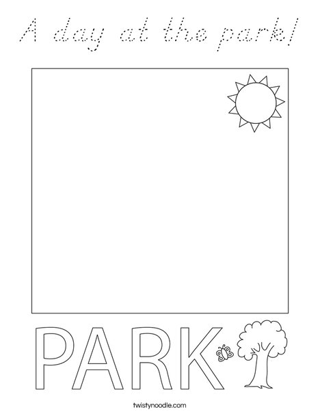 A day at the park! Coloring Page