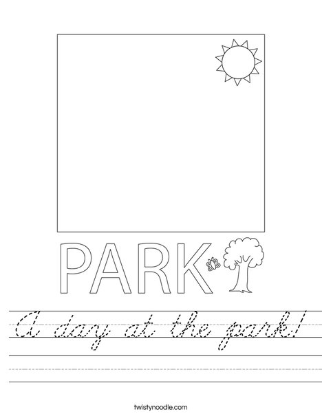 A day at the park! Worksheet