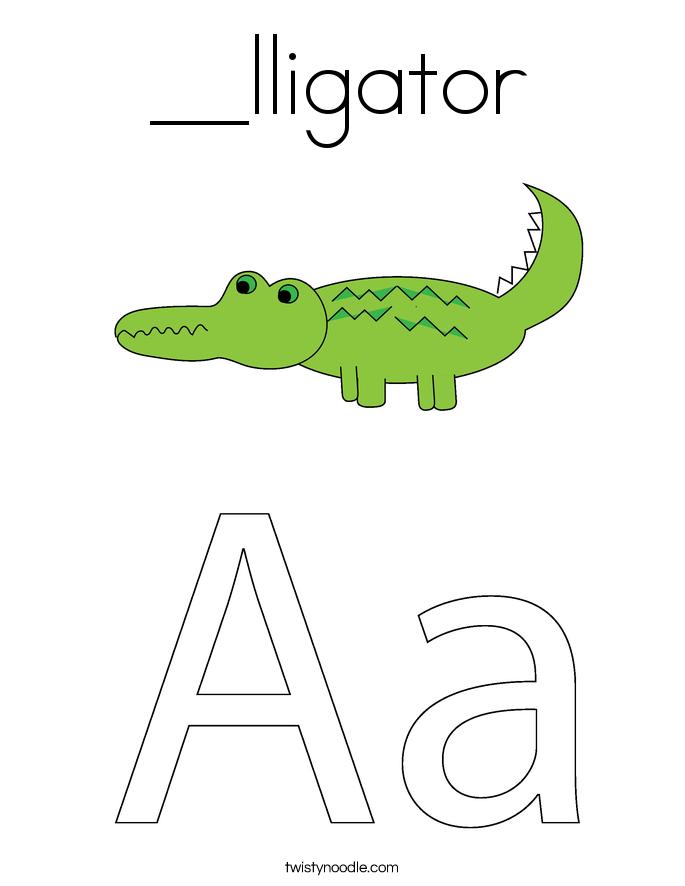 __lligator Coloring Page