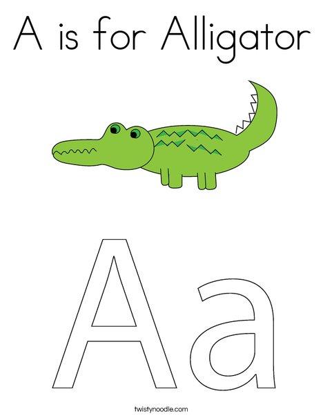 alligator coloring page alligators - Alligator Coloring Pages Printable