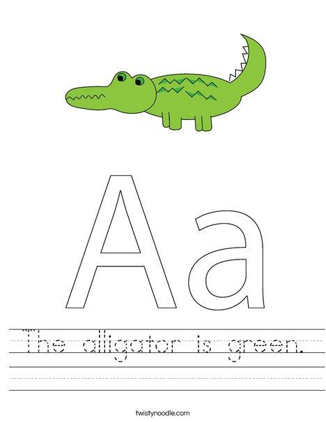A is for Alligator Worksheet