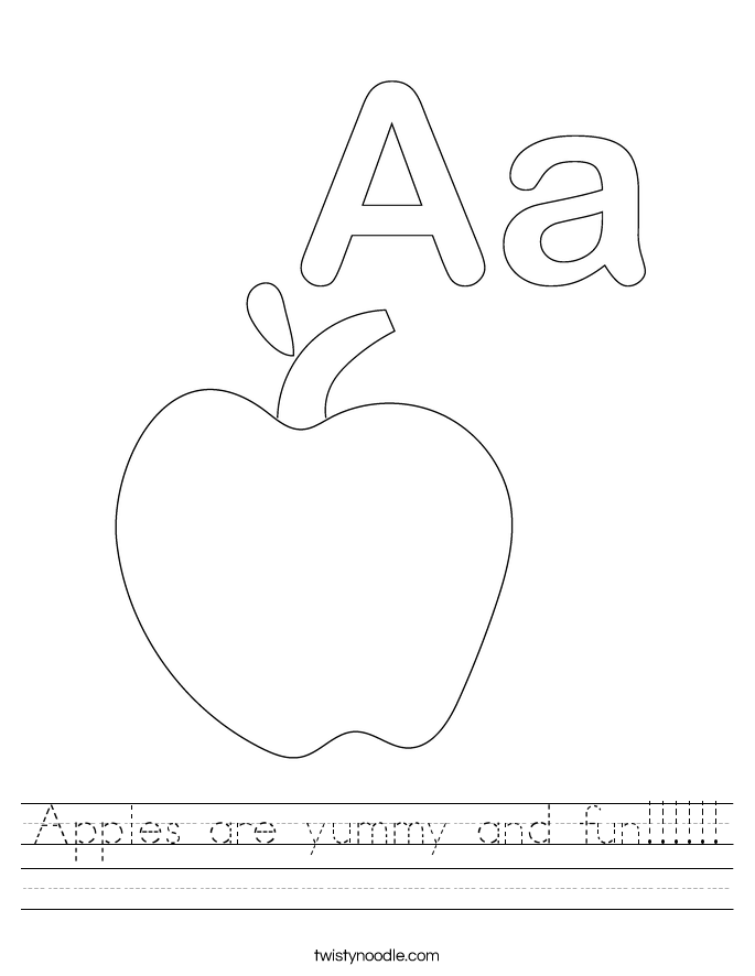 Apples are yummy and fun Worksheet - Twisty Noodle
