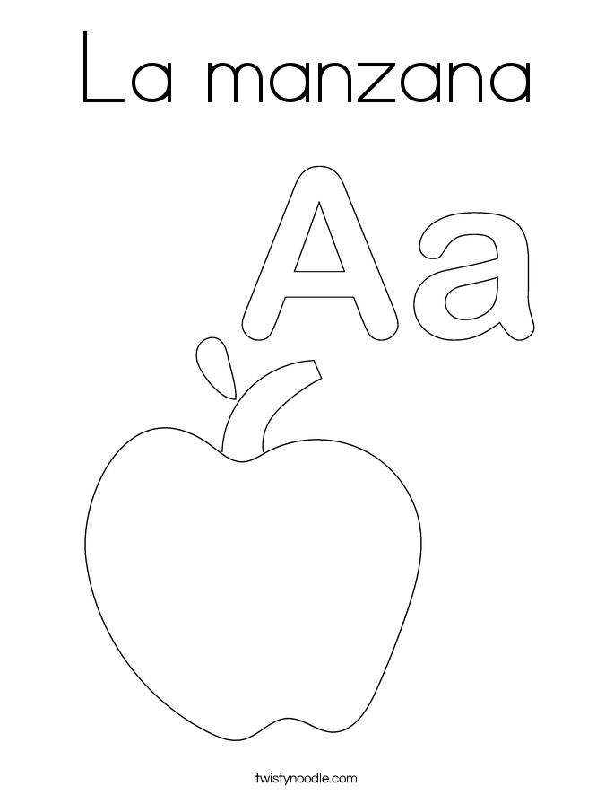 La manzana Coloring Page