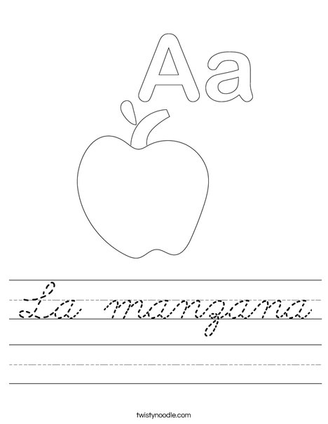 A is for Apple Worksheet