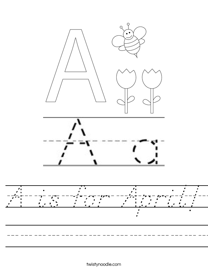 A is for April! Worksheet
